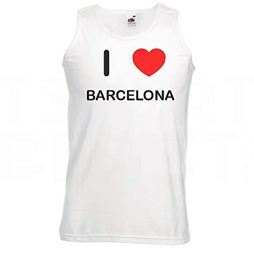 I Love Heart Barcelona - Mittlere weiße Weste