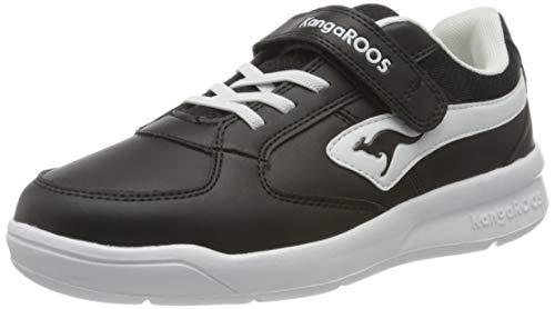 KangaROOS Unisex-Kinder K-Cope EV Sneaker, Jet Black/White 5012, 28 EU