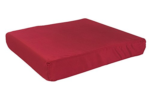 K9 Ballistics Tough Orthopedic Dog Bed Medium Nearly Indestructible & Chew Proof, Washable Ortho Pillow for Chewing Puppy - for Medium Dogs 33'x27', Red