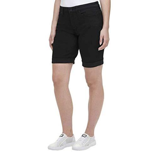 DKNY Jeans Women's Bermuda Jean Shorts (Black, 14)