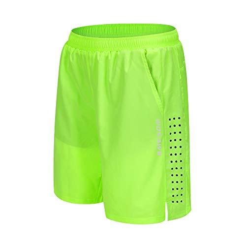 WOSAWE Herren Fahrradhose Atmungsaktiv 3D Gepolsterte Unterwäsche Loose-fit Sport Kurze Hose für Laufen Radfahrren MTB Radsport (Ohne Gel Pad, Grün, L)