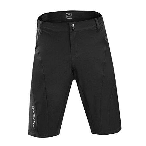 sharprepublic Pantalones Cortos de Ciclismo Reflectantes Transpirables de Secado Rápido Pantalones Cortos de Bicicleta MTB S-XXL - Negro, L