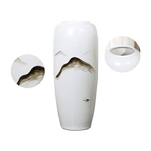WJMLS Keramik Blumenvase, Ikebana Blumenschmuck, dekorative Bud Hydroponics Container, Inneneinrichtungen Tischdekoration Vase, Arrangieren von Blumensträußen für Inneneinrichtungen