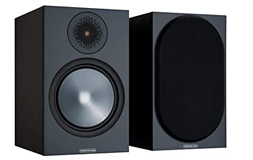 Monitor Audio Bronze 100 6G | Farbe: Schwarz | Kompaktlautsprecher | Paar | Stereo & Heimkino | Regal-Lautsprecher | 2-Wege | 8 Ohm | 100 Watt | Magnetische Abdeckung | Bassreflex | Passiv