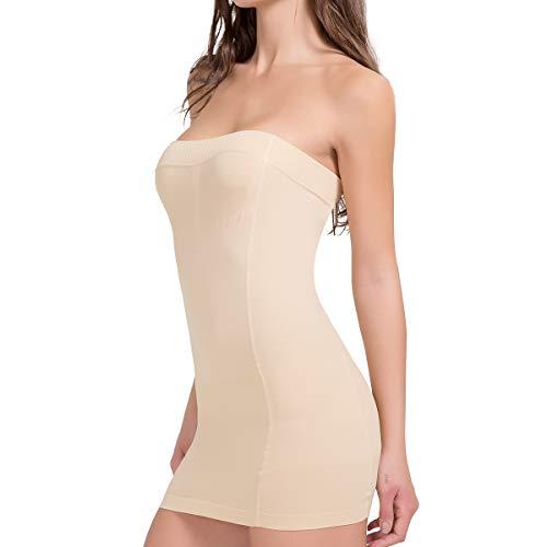 SLIMBELLE® Mujer Vestido Moldeador Combinación Moldeadora Lenceria Sin Costuras Fajas Reductoras de Abdomen y Cintura Body Shaper