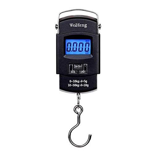 LALY A SHOP 50Kg / 110 Lbs Báscula Digital LCD portátil electrónica Escala de Peso de equipaje de Doble precisión Báscula de Equilibrio para recorrido de gancho colgante, 50 kg 110Lbs