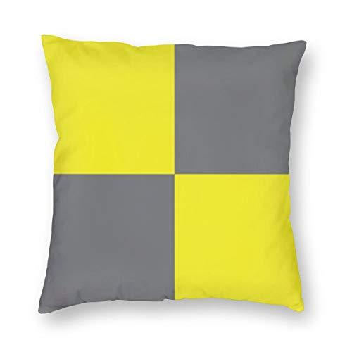 Meius International - Funda de cojín con diseño de bandera de Reino Unido con letra L (Lima), terciopelo suave, decorativa, cuadrada, funda de almohada para salón, sofá o dormitorio, con cremallera invisible de 20 x 20 pulgadas