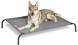 Petsure 35/43/49 inches Outdoor Elevated Dog Bed - Cooling Raised Dog Cot for Extra Large Medium Small Dogs, Portable Pet Bed for Camping or Beach, Durable Summer Frame with Breathable Mesh