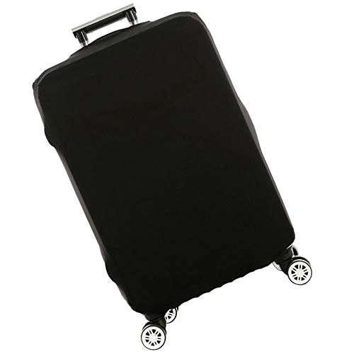 Stronghigheu Luggage Cover Suitcase Protector Elastic Spandex Dust-Proof Scratch-Resistant Luggage Black Fits 18-30 Inch (l)