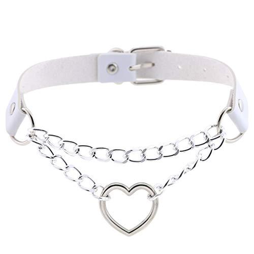 Ein cooles Mädchen-Halsband. Gr. One size, weiß