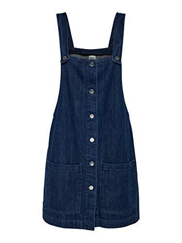 ONLY Damen Jeanskleid Geknöpftes 42Dark Blue Denim