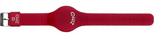 Orologio grande ZITTO a led con cinturino in silicone Amaranto Red- Rosso Amaranto