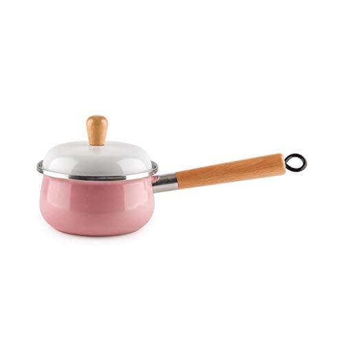 WZLJW Einfach und Durable HzPDG Milch Pfannen Saucepans Wind Emaille Milchsuppe Porridge Pot Haushalt Einweichen Nudeln Kleiner Herd Cooker Stew Pan Saucepan ggsm