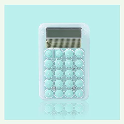 BENO Mini Calculadora Multifunción Colores De Caramelo Botones Grandes Calculadora Mecánica De Escritorio con Grandes LCD Mostrar calculadora portatil (Color : Green)