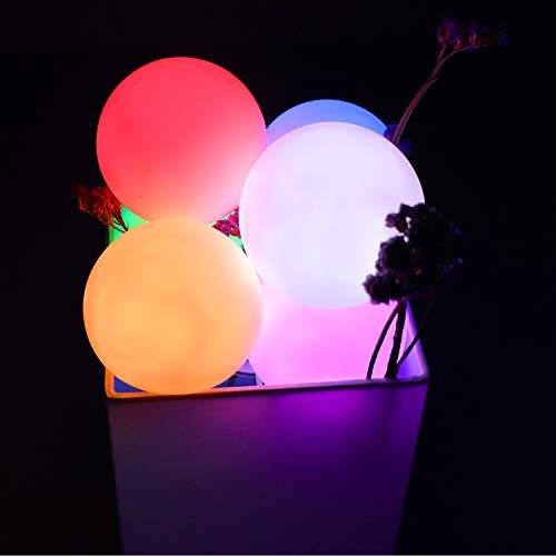 COOLWEST Iluminación LED, bola de luz nocturna LED, resistente al agua IP68, lámpara de jardín RGB, lámpara esférica regulable, para niños, jacuzzi, piscina, spa, interior, exterior, decoración