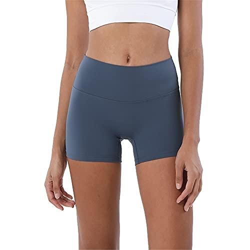 N\P Doble cara moler tres pantalones pantalones de yoga cintura femenina cadera cadera deportes, azul, S