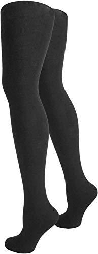 normani 2 x Warme und gefütterte Damen Thermo Strumpfhosen mit Innenfleece Farbe Schwarz Größe 40-42