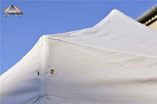 ACTIEXPRESS Bâche de Toit 3x6m pour Tonnelle Pliable, Tente Pliante, Barnum marché, en Polyester-PVC, 100% étanche (Polyester-PVC 300gr/m², Blanc)