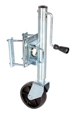 """Vestil TJ-06 Side Swivel and Wheel Trailer Jack, 800 lbs Capacity, 10"""" Lift Range"""