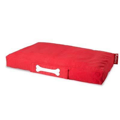 Fatboy® Doggielounge Large Baumwolle Stonewashed | XXL Hundekissen in Rot | Abwaschbares Hundebett für große und kleine Hunde | 120 x 80 x 15 cm
