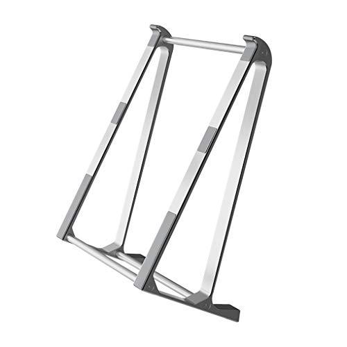 Mingtongli El Ordenador portátil representa aleación de Aluminio Soporte de Escritorio de refrigeración Base del sostenedor de múltiples Funciones para no sacudir Soporte, Plata