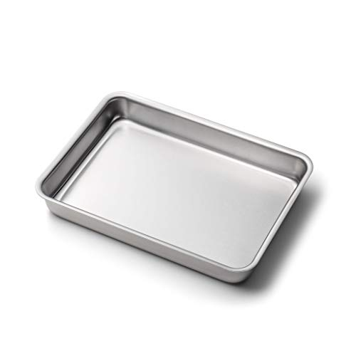 360 Stainless Steel Baking Pan, 9x13 with No Handles, Handcrafted in the USA, 5 Ply, Stainless Steel Bakeware, Roasting Pan (9x13 with No Handles)