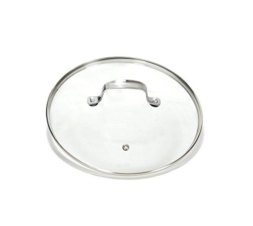 Gotham Steel Clear Tempered Glass Vented Lid - Prevents Pots and Pans from Messy Spillovers (12.5-inch Lid)