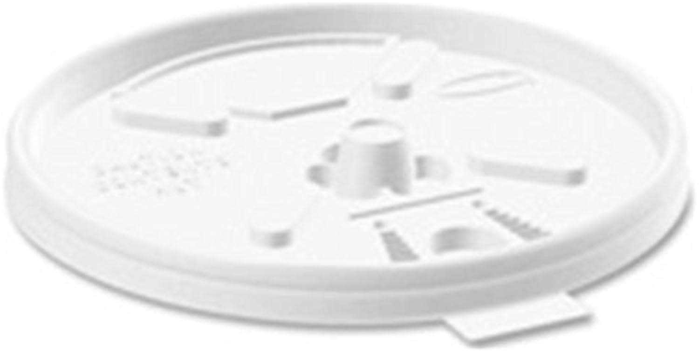 Con 100% de calidad y servicio de% 100. DRC12FTL DRC12FTL DRC12FTL - Lids,for Foam Cups,Fold Tab, 12 oz.,1000 CT, blanco by Dart Container Corp.  barato