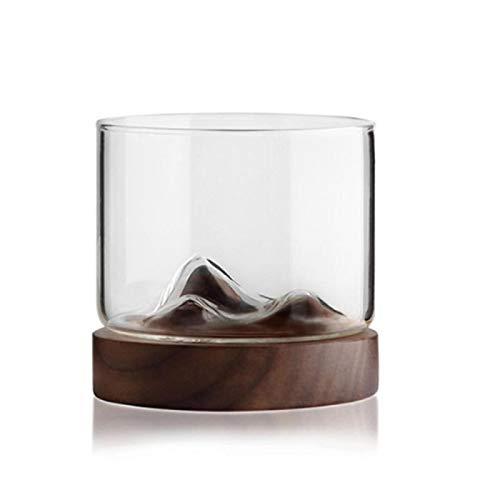Wjfijz Coffee cup Mountain Wine Glass mug Tea Cup wood mug gift 1