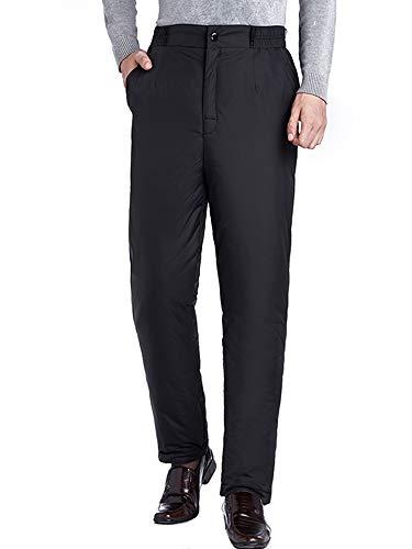 [ネルロッソ] ダウン パンツ 防寒 暖パン 暖かい ナイロンパンツ メンズ アウトドア バイク 登山 ゴルフ 釣り 大きいサイズ 正規品 XL ブラック cmy24422-XL-bl
