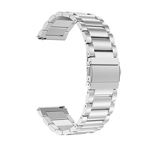 LYB Correa Original para Huawei Watch GT Watch Band para Xiaomi Huami Ambashit Stratos 2 2S Pulsera De La Pulsera De Acero Inoxidable De 22 Mm. (Color : Silver, Size : 22mm for Samsung S3)