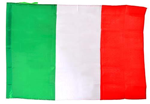Vlag Italië van stof met asta, groen/wit/rood, 90 x 60 cm, 22093