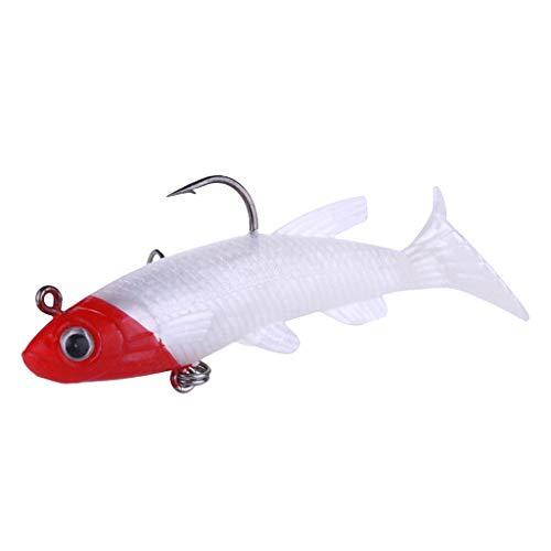 Bascar 3D Wobbler Raubfischköder, Premium Hunter Spin-Tail Lure Serie Floating Fishing Lure Rotierender Schwanz nach obe