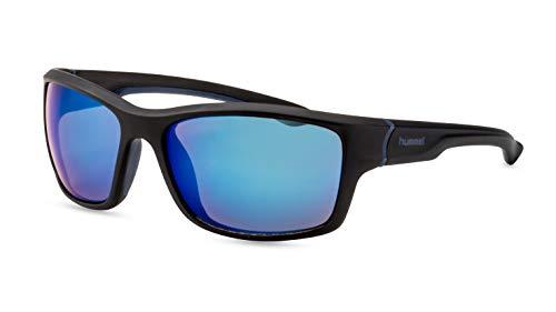 hummel Herren Sportbrille/Hochwertige Sonnenbrille für die Outdoor Saison/Blau verspiegelt F2510350