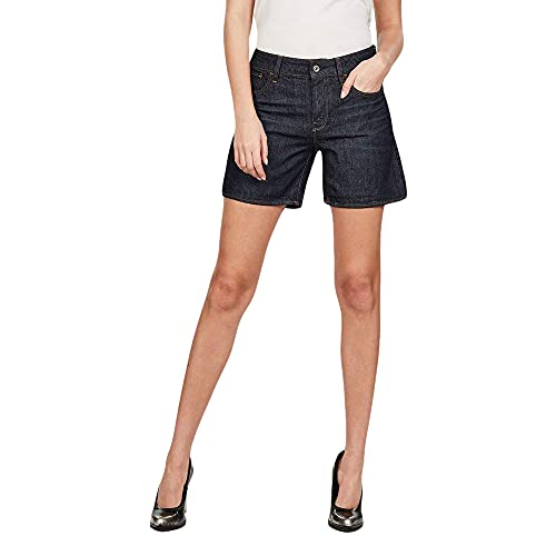 G-STAR RAW 3301 High Waist Boyfriend Pantalones Cortos, Azul (3D Raw Denim Processed 8973-9020), W23 (Talla del Fabricante: 23W) para Mujer