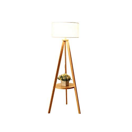 FENG LIAN vloerlamp schakelaar knop Nordic nachtkastje driepoot hout slaapkamer woonkamer werkkamer beschikbaar staande lamp