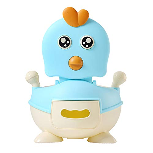 Potty Training Seat for Kids Toddler, Boys Girls Portable Cute Chicken Training Toilet Chair with Comfortable Handles and Splash Guard (Blue)