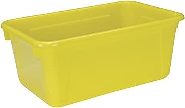 School Smart Tote Tray, 12 x 8 x 5 in, Yellow