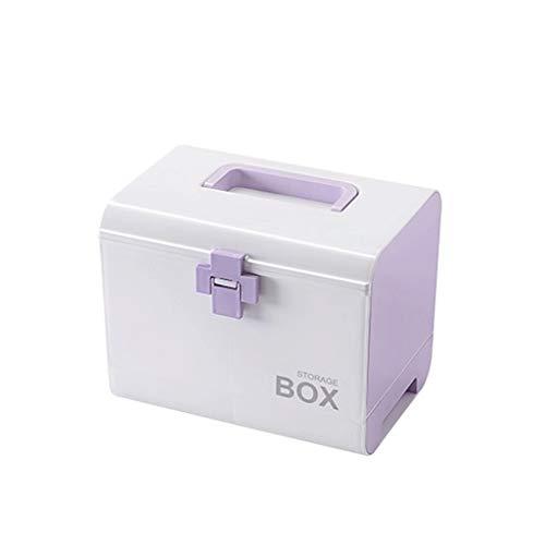 Botiquin GCX- Medicine Chest Grande Caja Portable de la Medicina Multifuncional de plástico Caja de la Medicina Caja de la Medicina de múltiples Capas de la Caja de almacenaje Medicina conciso