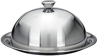 FGC Cloche in Acciaio Inox e Vassoio per pietanze, Diametro 20 cm Piatto 24 cm