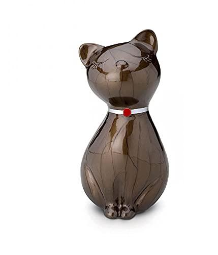 Au Paradis Des Chats, Katzen-Urne Duchesse, Urnen Katze, Katzen-Gedenkstätte, Urne für Einäscherung Asche, Haustier Andenken (Braun).