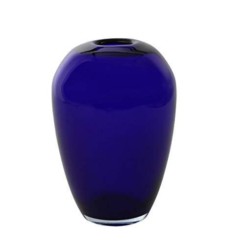 JSMY Dekorative Vase in kobaltblauer Farbe aus Glas