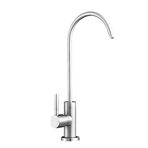 Qrity Purifier Filter Water Faucet Stainless Steel Faucet Reverse Osmosis Goose Neck Drinking Water Filter with 360 Degree Swivel Spout Kitchen Tap
