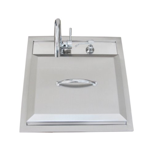 Big Sale Best Cheap Deals SUNSTONE A-PS21 Premium Sink with Hot/Cold Water Facet and Cutting Board