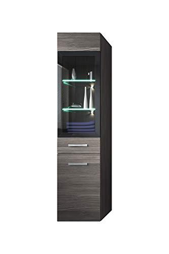 Badezimmer Schrank Rio 131 cm Grau (Bodega) – Regal Schrank Hochschrank Schrank Möbel