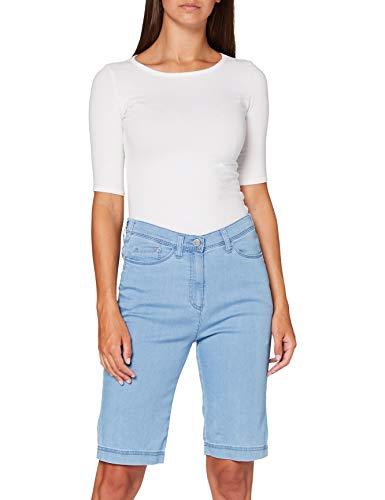 Raphaela by Brax Damen Style Laura Bermuda Super Dynamic Light Denim Skinny Jeans, Bleached, 44