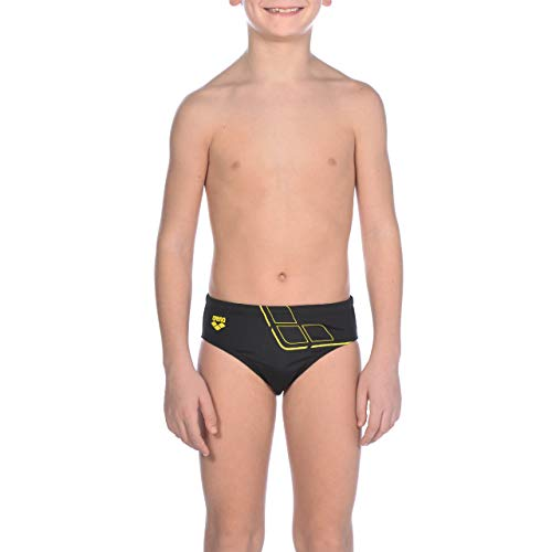 Arena Essentials Slip Nuoto, Bambino, Black/Yellow Star, 12-13