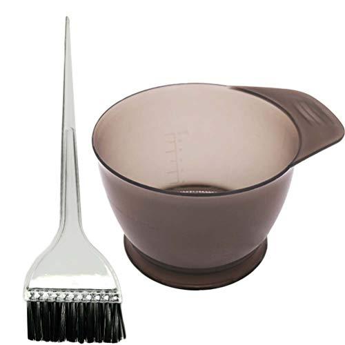 SUPVOX 2pcs salon de coloration des cheveux kit de teinture de cheveux kit de traitements de l'huile de cheveux outils de traitement avec bol à teinter et brosses à colorant