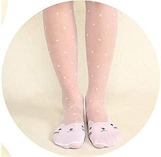 Lovely Socks Children Cotton Mesh Socks Kids Summer Cats Dot Patterns Mid Tube Stocking(Pink) Newborn Sock (Color : White)