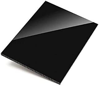 Hoja de metacrilato negro brillo, lámina de plástico negro 420 mm x 297 mm